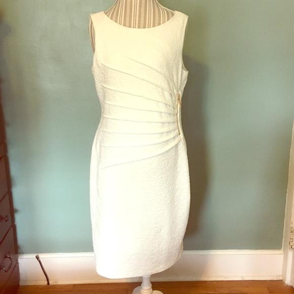 7b809f5becb NWT Adrienne Vittadini Cream Textured Dress